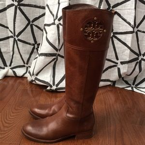 Tory Burch Brown Riding Boot size 5.